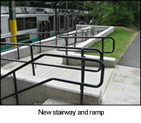 accessible ramp at Longwood T stop