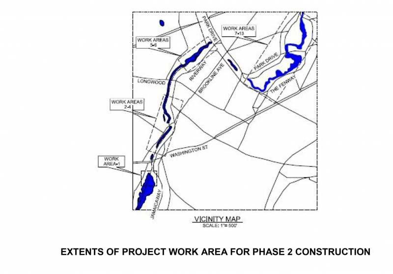 EXTENTS OF PROJECT WORK AREA FOR PHASE 2 CONSTRUCTION