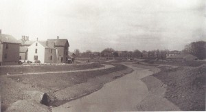 This 1882 view shows park construction along the Muddy River. (Collection of the National Park Service, Frederick Law Olmsted National Historic Site, Brookline, Massachusetts.)