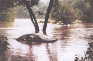 1996 flooding at Leverett Pond