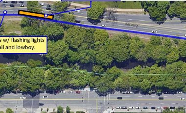 Temporary Lane Closure on Riverway (outbound) near Brookline Avenue, Monday, December 7